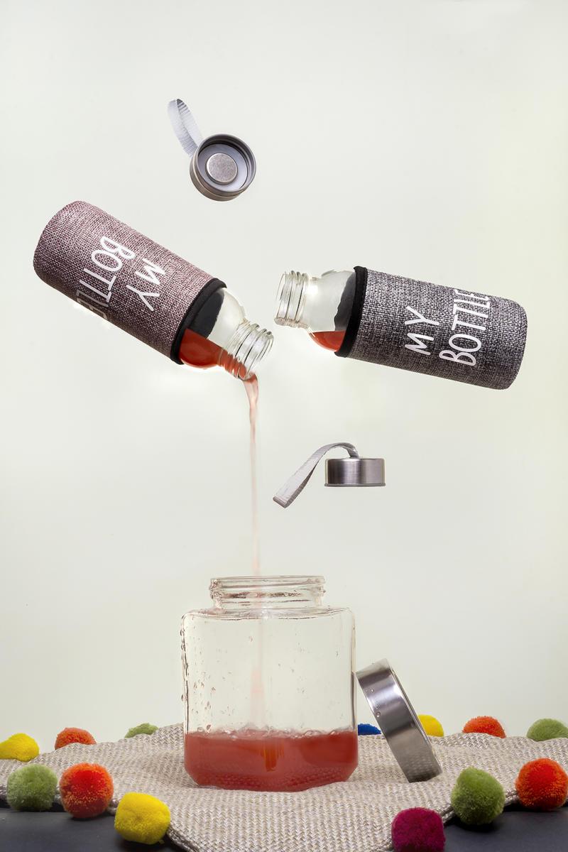 Levitation Photography bottle